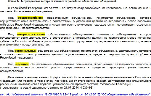 14 статья 82-ФЗ